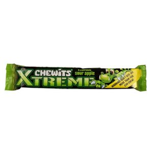 Chewits Xtreme Sour Apple 24x30g