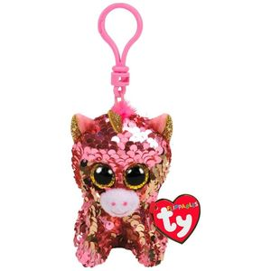 Ty Boos Flippable Unicorn Coral Clip 1pc