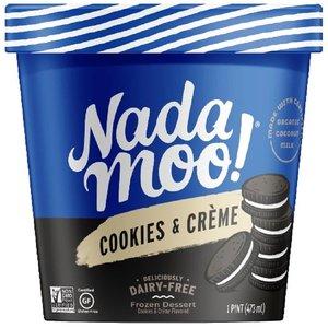 Nada Moo Organic Gluten Free Ice Cream Cookies And Cream 16oz