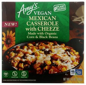 Amy's Organic Vegan Mexican Casserole With Cheese Bowl 9.5oz