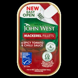 John West Mackerel Fillet In Spicy Tomato Sauce 115g