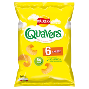 Walkers Quavers Cheese Crisps 6x16g