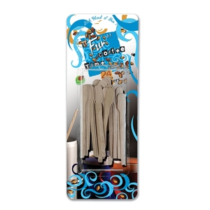 Fun Coffee Time Wooden Stirrers 12cm 24packs