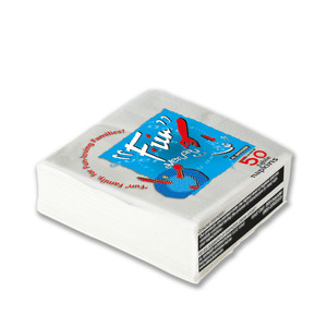 Fun Everyday Premium Paper Napkin Tissue Paper White 33x33m 2 Ply 50packs