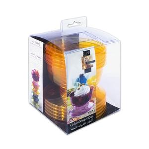Fun Festive Coloured Dessert Cup Citrus 6packs