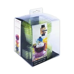 Fun Festive Coloured Dessert Cup Olive 6packs