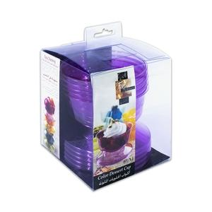 Fun Festive Coloured Dessert Cup Plum 6packs