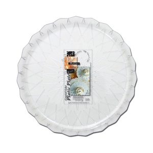 Fun Festive Crystal-Like Plastic Platter 30cm 5packs