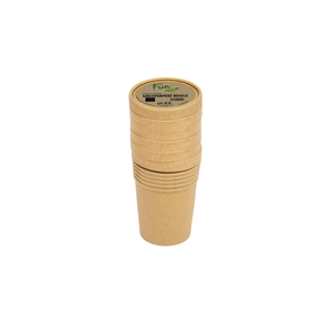 Fun Green Track Kraft Paper Multipurpose Bowls With Lids 16oz 6packs