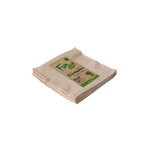 Fun Green Track Unbleached 2 Eco Napkins 33x33cm 2 Ply 50packs