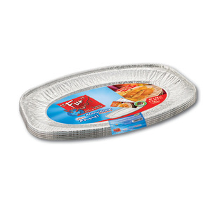 Fun Indispensable Oval Aluminium Platter Small 5packs