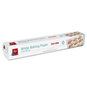 Fun Indispensable White Silicone Coated Baking Paper Extra Wide White 15mx45cm 1s
