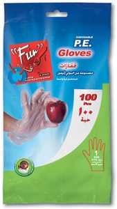 Fun Plastic Disposable HDPE Gloves Free Size 100pcs