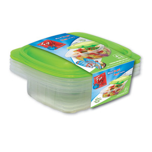 Fun Indispensable Multipurpose Plastic Food Container Set With Lid 24oz 4pcs