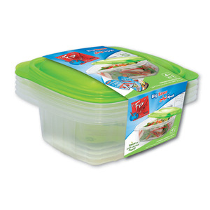 Fun Indispensable Multipurpose Plastic Food Container Set With Lid 32oz 4pcs