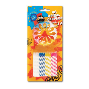 Fun Its Cool Spiral Birthday Candles With Holders 48pcs