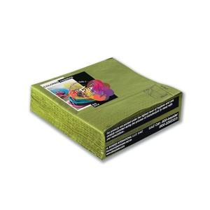 Fun Color Paper Napkins Olive 33cm 2Ply 50packs