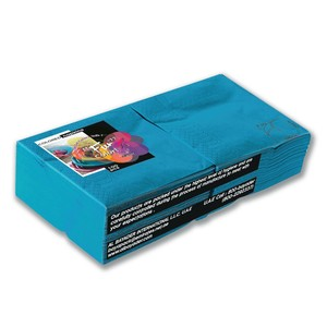 Fun Color Turquoise Paper Napkins 25cm 2 Ply 100packs