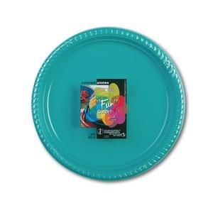 Fun Color Party Plastic Plates Set Large Blue 10packs