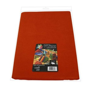 Fun Color Non Woven Table Cover Sheet Mat Red For Dining Table 1pc