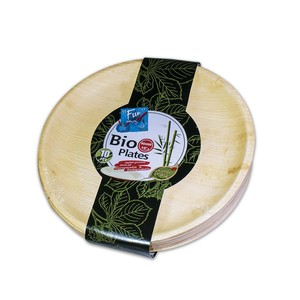 Fun Everyday Biodegradable Palm Leaf Round Plate 10 Inch 10packs