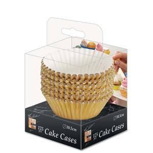 Fun Festive Gold Paper Cake Case 10.5cm 125packs