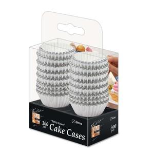 Fun Festive Silver Paper Cake Case 6cm 300packs
