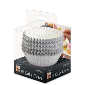 Fun Festive Silver Paper Cake Case 10.5cm 125packs
