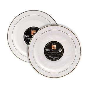 Fun Festive Premium Round Plate Assorted 26cm 10packs
