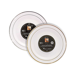 Fun Festive Premium Round Plate Assorted 23cm 10packs