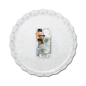 Fun Festive Crystal Like Plastic Platter 24cm 5packs
