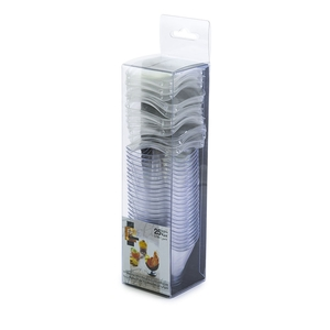 Fun Festive Verrine Crystal Mini Square Cup With Lid 57ml 25packs