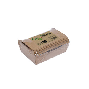 Fun Green Track Kraft Paper Food Boxes 180x120x50mm 6packs