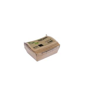 Fun Green Track Kraft Paper Food Boxes 120x88x37mm 6packs