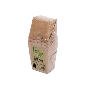 Fun Green Track Kraft Paper Food Pails 24oz 6packs