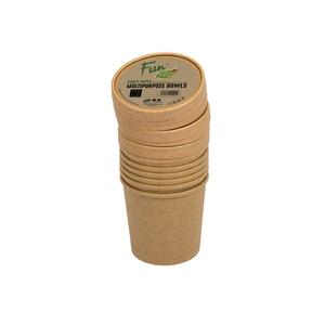 Fun Green Track Kraft Paper Multipurpose Bowls With Lids 26oz 6packs