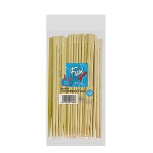 Fun Green Track Bamboo Chopsticks 23cm 25packs