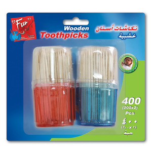 Fun Indispensable Wooden Toothpick Twin Pack 2x200packs