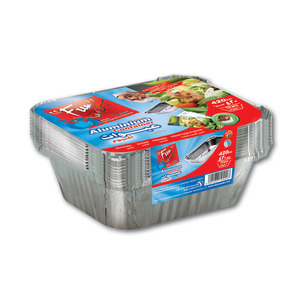 Fun Indispensable Aluminium Containers With Lids 420cc 10packs