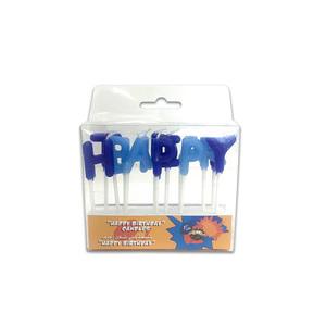 Fun Its Cool Happy Birthday Alphabet Candle Blue 1pc