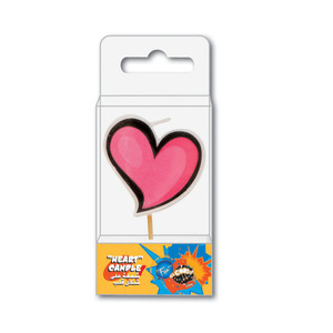 Fun Its Cool Birthday Candles Heart 1pc