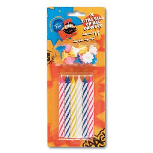 Fun Its Cool Spiral Extra Tall Birthday Candles 12pcs