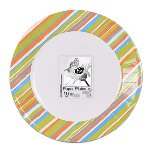 Fun Trendy Evergreen Paper Plate For Birthday Parties 23cm 10packs