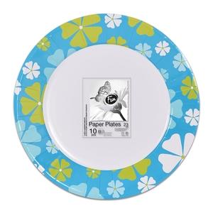 Fun Trendy Nautilus Paper Plate For Birthday Parties 23cm 10packs