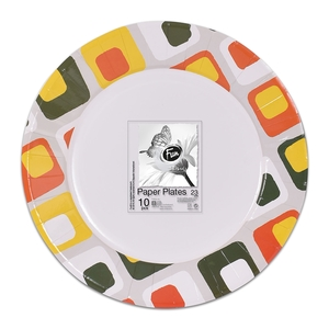 Fun Trendy Summer Paper Plate For Birthday Parties 23cm 10packs