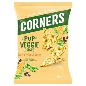 Corners Pop Veggie Crisps Sour Cream & Onion 85g