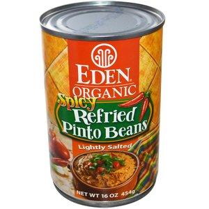 Eden Refried Spicy Pinto Beans 454g
