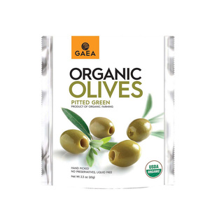 Gaea Pitted Green Olives 65g