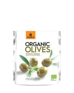 Gaea Whole Green Olives 150g