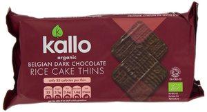 Kallo Organic Dark Choco Thin Rice Cakes 90g